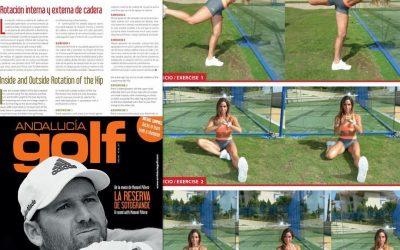 Rotación interna y externa de cadera en el Golf (revista)